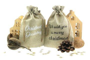 Jute zakjes kerst