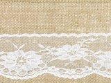 Jute lint met kant 15 cm breed