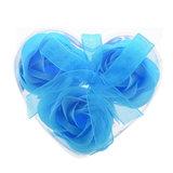 Bedankjes 3 zeeprozen licht blauw in hartje