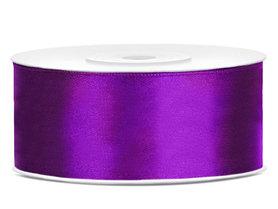 Dubbelzijdig satijn lint 25 mm paars