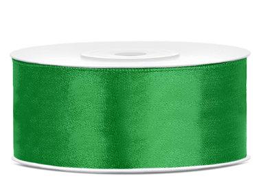 Groen satijn lint 25 mm breed