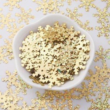 Kerst confetti strooimix ijskristal goud