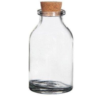 Glazen flesjes met kurk 6 cm