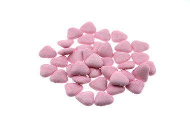 Bruidsuiker hartvormig mini Licht roze