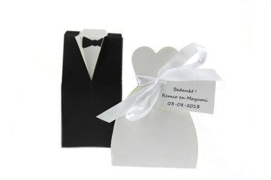 2 st Huwelijksbedankjes Doosje Bruidspaar