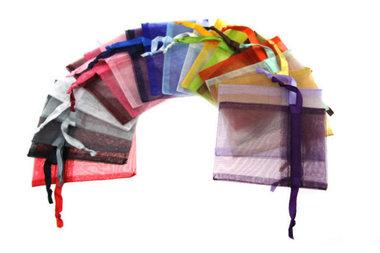 15 organza zakjes kleurenpakket 7.5 x 10 cm