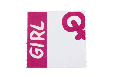 10 labels Geboortebedankjes girl
