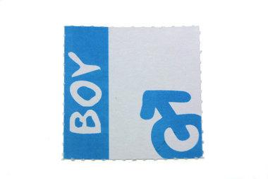 10 labels Geboortebedankjes boy