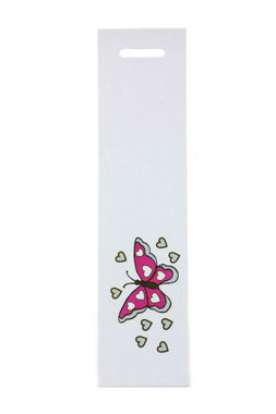 6 labels langwerpig vlinder fuchsia