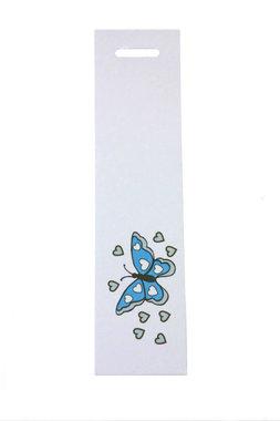 6 labels langwerpig vlinder aqua