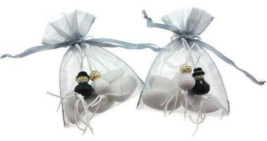Huwelijksbedankje gelukspoppetje bruidspaar