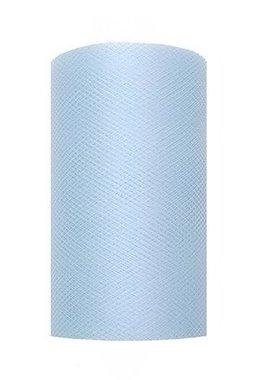 8 cm tule lint licht blauw