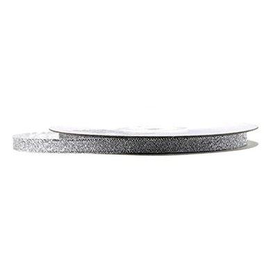 Metalic lint 1 cm breed Zilver