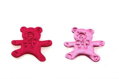 10 satijn plakker beer roze