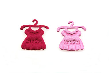 10 satijn plakker baby jurkje roze