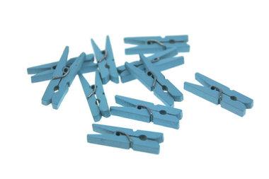 Wasknijpertjes licht blauw