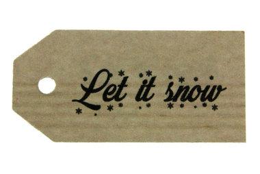 Kraft label let it snow