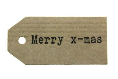 Kraft label merry x-mas