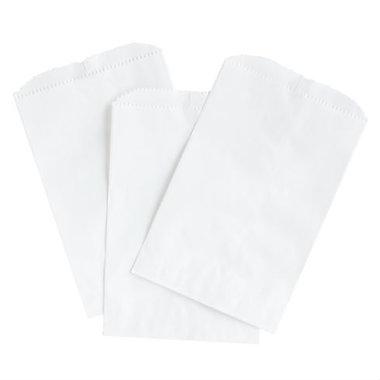 Wit papieren zakjes 10 x 16 cm