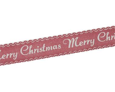 Kerstlint merry christmas 15 mm breed