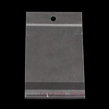 Cellofaan zakjes 8 x 12 cm MET OPHANGOOG
