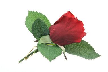 Gastencorsage roos rood