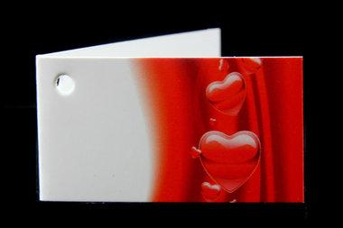 Kaartjes voor bedankjes hartje rood