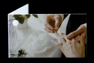 Kaartjes voor bedankjes handen bruidspaar