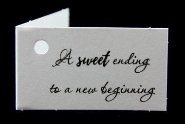 Kaartjes voor bedankjes a sweet ending to a new beginning