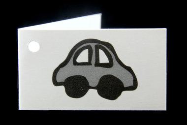 Traktatie kaartjes auto met naam