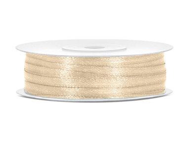 Goud satijn lint 3 mm breed