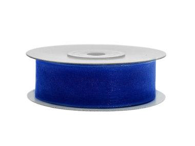Blauw organza lint 2 cm breed