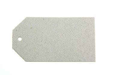 Grijs karton label 5 x 9 cm 10 stuks