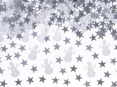 Kerst confetti sneeuwpop en ster