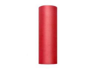 Tule lint rood 15 cm breed