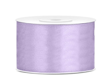 Lavendel satijn lint 38 mm breed