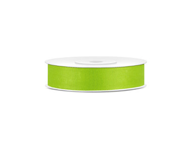 Grosgrain lint 15 mm breed lime groen