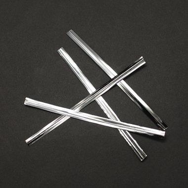 Sluitstrips zilver 10 stuks