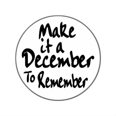 Ronde stickers make it a december to remember 10 stuks