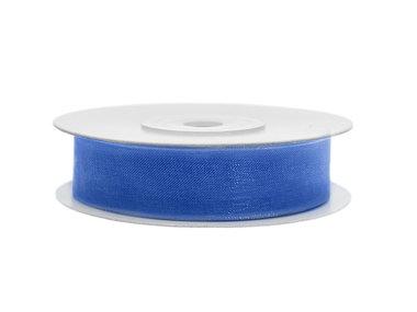 Organza lint 15 mm breed blauw