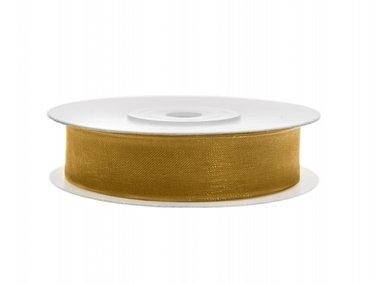 Organza lint 12 mm Goud
