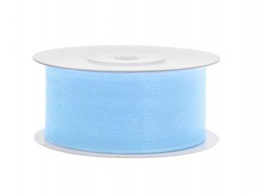 Organza lint 38 mm Licht blauw