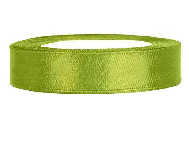 Olijf groen satijn lint 2 cm breed