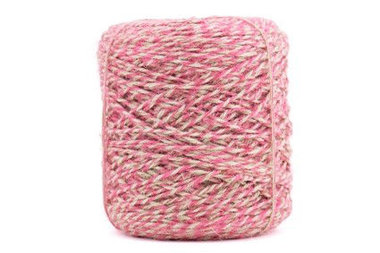 Flaxcord twisted roze 3.5 mm dik 10 meter