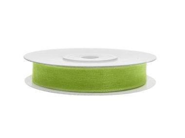 Organza lint 6 mm lime groen