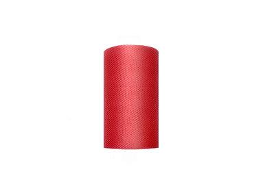 8 cm Tule lint rood