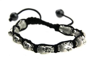 Armbandje zwart boeddha