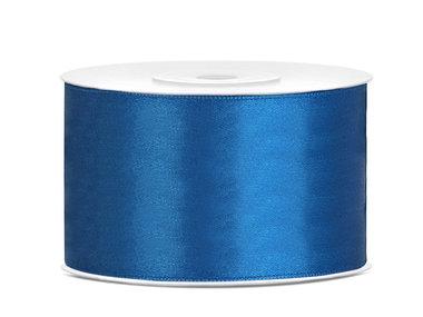Dubbelzijdig satijn lint 38 mm blauw