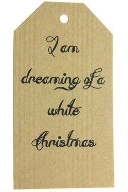 Kraft label xl i am dreaming of a white christmas