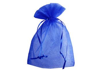 Organza zakjes 5 x 7 cm blauw
